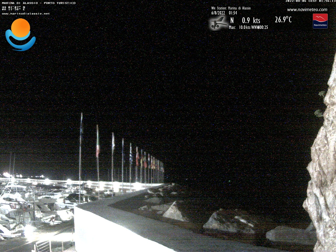 Webcam Marina di Alassio e Isola di Gallinara