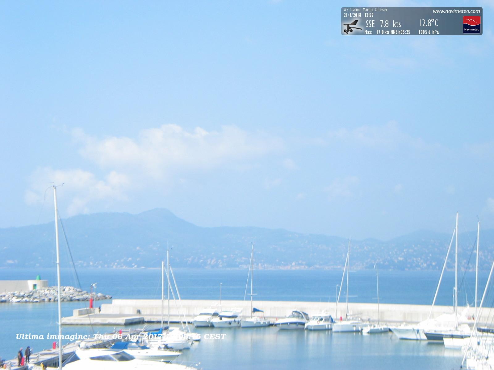 Webcam Chiavari, Porto Turistico Marina Chiavari - Navimeteo